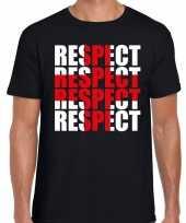 Goedkope respect rood kruis shirt zwart voor heren