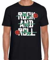 Goedkope rock and roll 50s shirt zwart voor heren