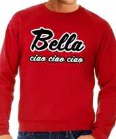 Goedkope rode bankovervaller bella ciao trui voor heren