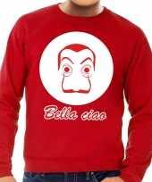 Goedkope rode bankovervaller trui voor heren