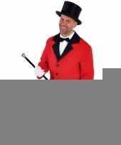 Goedkope rood circus directeur jasje inclusief hoed maat s
