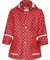 Goedkope rood met witte stip regenjas voor kinderen