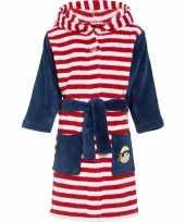 Goedkope rood wit gestreepte badjas voor kinderen