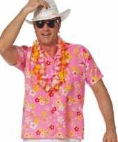 Goedkope roze hawaiishirt voor volwassenen