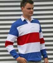 Goedkope rugbyshirt in holland kleuren