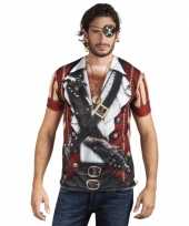 Goedkope shirt met piraat opdruk