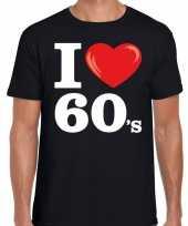 Goedkope sixties shirt met i love 60s bedrukking zwart voor heren