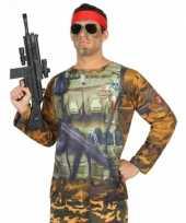 Goedkope soldaat-shirt verkleedoutfit
