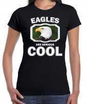 Goedkope t-shirt eagles are serious cool zwart dames zeearenden arend shirt