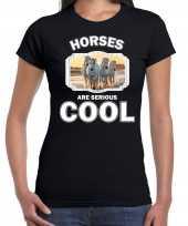 Goedkope t-shirt horses are serious cool zwart dames paarden wit paard shirt