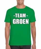 Goedkope team groen shirt heren voor sportdag