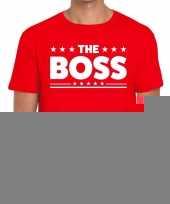Goedkope the boss fun t-shirt voor heren rood