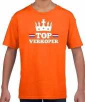 Goedkope top verkoper met kroontje t-shirt oranje kinderen