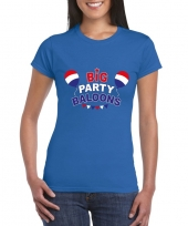 Goedkope toppers big party balloons 2019 t-shirt blauw dames