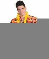 Goedkope toppers hawaii overhemd rood met oranje