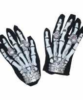 Goedkope verlichte skelet handschoenen