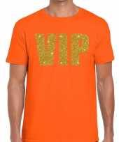 Goedkope vip fun t-shirt oranje voor heren