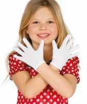 Goedkope voordelige witte kinder handschoenen