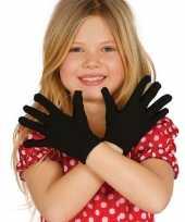 Goedkope voordelige zwarte kinder handschoenen