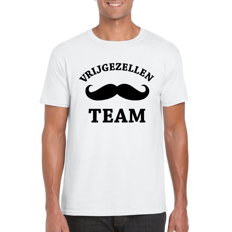 Goedkope vrijgezellenfeest-shirt wit voor heren