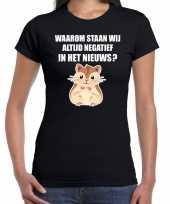 Goedkope waarom negatief in het nieuws hamsteren t-shirt coronavirus zwart voor dames