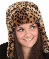 Goedkope warme tijgerprint muts voor dames