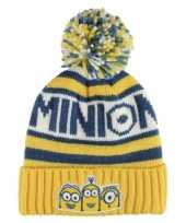 Goedkope warme wintermuts minions voor kids