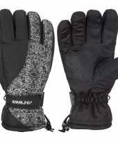 Goedkope wintersport starling mirre handschoenen voor kinderen zwart wit