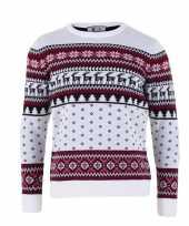 Goedkope witte kersttrui voor volwassenen nordic print