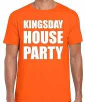Goedkope woningsdag kingsday house party t-shirts voor thuisblijvers tijdens koningsdag oranje heren