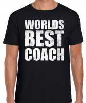 Goedkope worlds best coach werelds beste coach cadeau shirt zwart voor heren