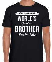 Goedkope worlds greatest brother kado shirt voor broers zwart heren