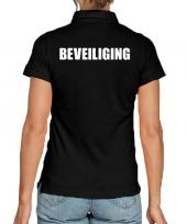 Goedkope zwart beveiliging polo t-shirt voor dames