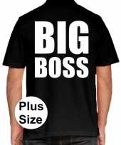 Goedkope zwart plus size big boss polo t-shirt voor heren