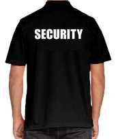 Goedkope zwart security polo t-shirt voor heren