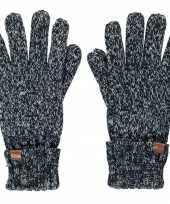 Goedkope zwarte navy blauwe gemeleerde handschoenen met fleece voering voor jongens meisjes kinderen