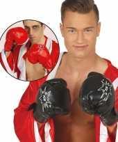 Goedkope zwarte verkleed bokser handschoenen voor volwassnen