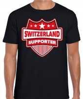 Goedkope zwitserland switzerland supporter t shirt zwart voor heren